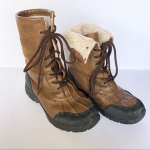 Polaris Faux Fur Leather Hiking Hunt Duck Boot 7